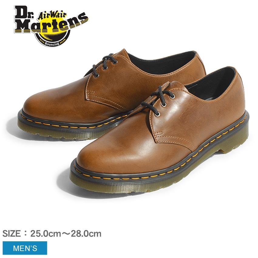 送料無料 ドクターマーチン 3ホール Dr.Martens 1461 3ホール ギブソン ビタースコッチ メンズ ブラウン 茶 靴 短靴 シューズ レースアップ オーリアンズ レザー 本革 プレーントゥ 22829243 1461 3EYE GIBSON BITTER SCOTCH