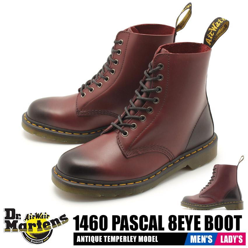 【クーポン配布!スーパーSALE】 ドクターマーチン DR.MARTENS 1460 パスカル 8ホール ブーツ メンズ レディース 靴 シューズ レースアップ ワーク レザー 革 バーガンディ レッド 赤 1460 PASCAL 8EYE BOOT R21154600