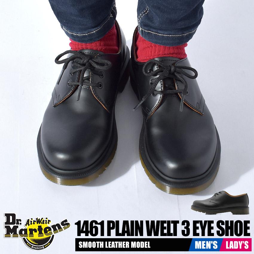 ドクターマーチン DR.MARTENS 1461 プレーン ウェルト 3ホール シューズ メンズ レディース プレーントゥ カジュアル レザー 革 本革 靴 ブラック 黒 1461 PLAIN WELT 3 EYE SHOE 11839002