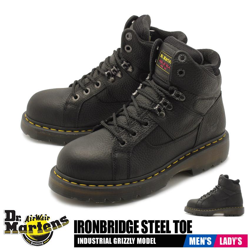 【クーポン配布!スーパーSALE】 ドクターマーチン DR.MARTENS アイアンブリッジ スチールトゥ セーフティーシューズ メンズ レディース 安全 作業 靴 ブラック 黒 IRONBRIDGE STEEL TOE R12721001