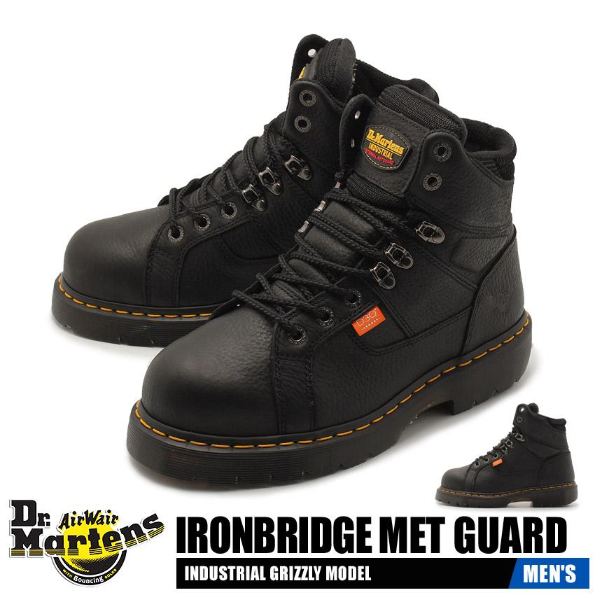 【クーポン配布!スーパーSALE】 ドクターマーチン DR.MARTENS アイアンブリッジ メット ガード セーフティシューズ 安全 作業 靴 シューズ メンズ ブラック 黒 IRONBRIDGE MET GUARD 14403001