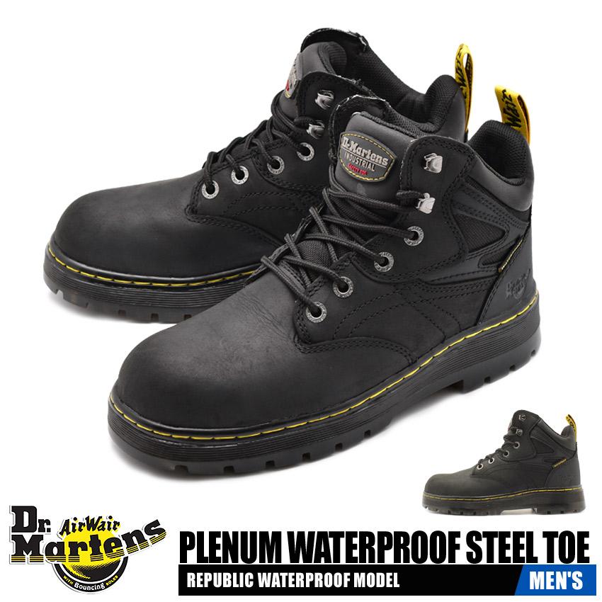 送料無料 ドクターマーチン DR.MARTENS ドクターマーチン プレナム ウォータープルーフ スチールトゥ セーフティーシューズ 安全 作業 靴 ブラック 黒 PLENUM WATERPROOF STEEL TOE R23388001