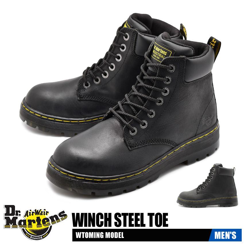 【クーポン配布!スーパーSALE】 ドクターマーチン DR.MARTENS ウィンチ スチールトゥ セーフティーシューズ メンズ 安全 作業 靴 ブラック 黒 WINCH STEEL TOE R16257001