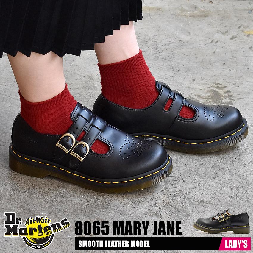 ドクターマーチン DR.MARTENS 8065 メリージェーン シューズ レディース レザー 本革 革 モンク ストラップ ブローグ ブラック 黒 8065 MARY JANE R12916001 送料無料