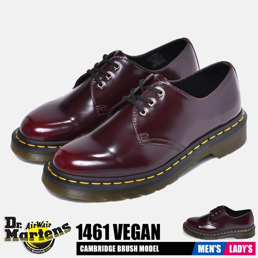 ドクターマーチン DR.MARTENS ビーガン1461 ドレスカジュアルシューズ メンズ レディース ユニセックス ワインレッド 赤 シューズ 靴 レザー ファッション ドレスシューズ カジュアル シンプル おしゃれ 人気 VEGAN1461 14046601