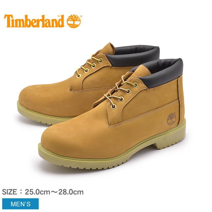 【24時間限定セール】 ティンバーランド TIMBERLAND メンズ ブーツ ウォータープルーフ チャッカ ブラウン イエロー ショート シューズ ウィートヌバック レザー 天然皮革 靴 50061 WATERPROOF CHUKKA