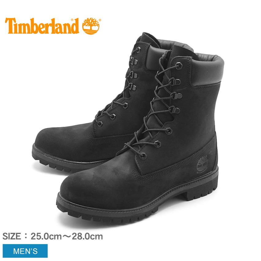 ティンバーランド TIMBERLAND メンズ ブーツ 8インチ プレミアムブーツ ブラック 黒 ハイカット ロング シューズ 天然皮革 ヌバック レザー ウォータープルーフ 靴 (98540 8inch PREMIUM WATERPROOF BOOT)