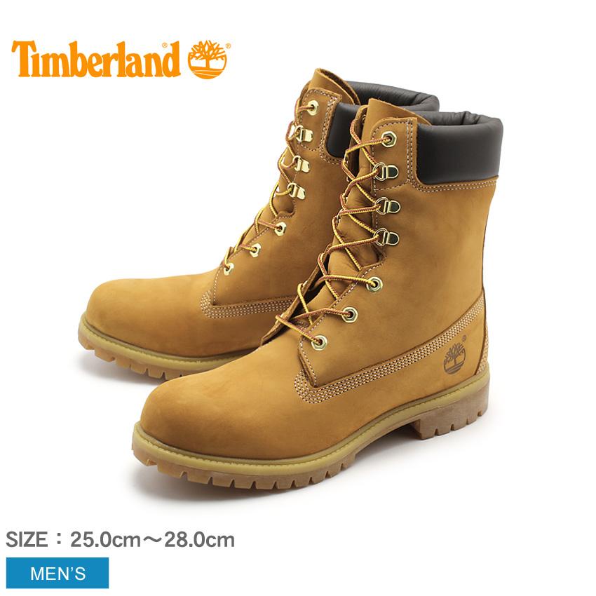 送料無料 ティンバーランド TIMBERLAND メンズ ブーツ 8インチ プレミアムブーツ ブラウン イエロー ハイカット ロング シューズ 天然皮革 ウィートヌバック レザー ウォータープルーフ 靴 (12281 8inch PREMIUM WATERPROOF BOOT)