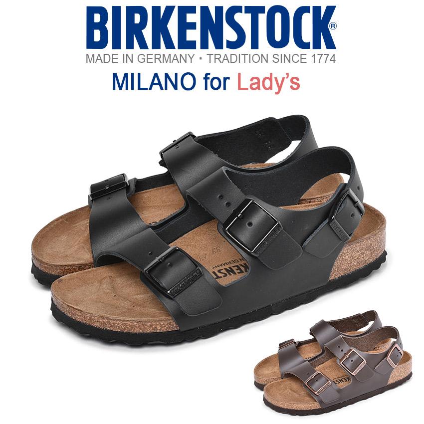 ビルケンシュトック BIRKENSTOCK ミラノ [細幅タイプ] サンダル レディース 黒 ブラック ブラウン 靴 シューズ コンフォートサンダル おしゃれ カジュアル シンプル MILANO 0034193 0034103