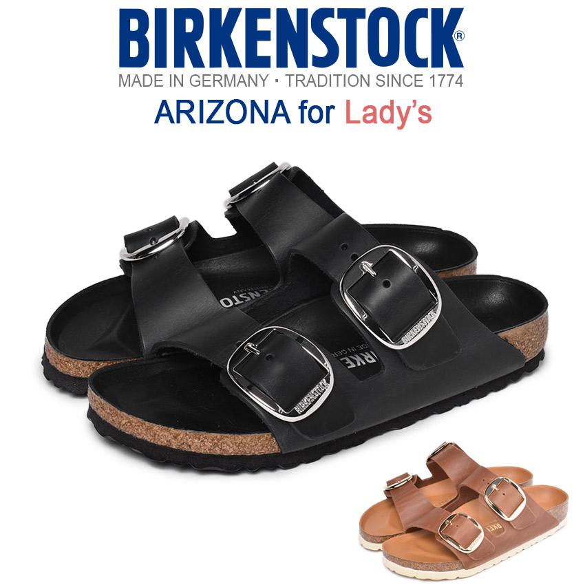 ビルケンシュトック BIRKENSTOCK アリゾナ ビッグ バックル [細幅タイプ] コンフォートサンダル レディース ブラック ブラウン 黒 茶 靴 シューズ フラット ビルケン サンダル レザー 本革 カジュアル ARIZONA BIG BUCKLE