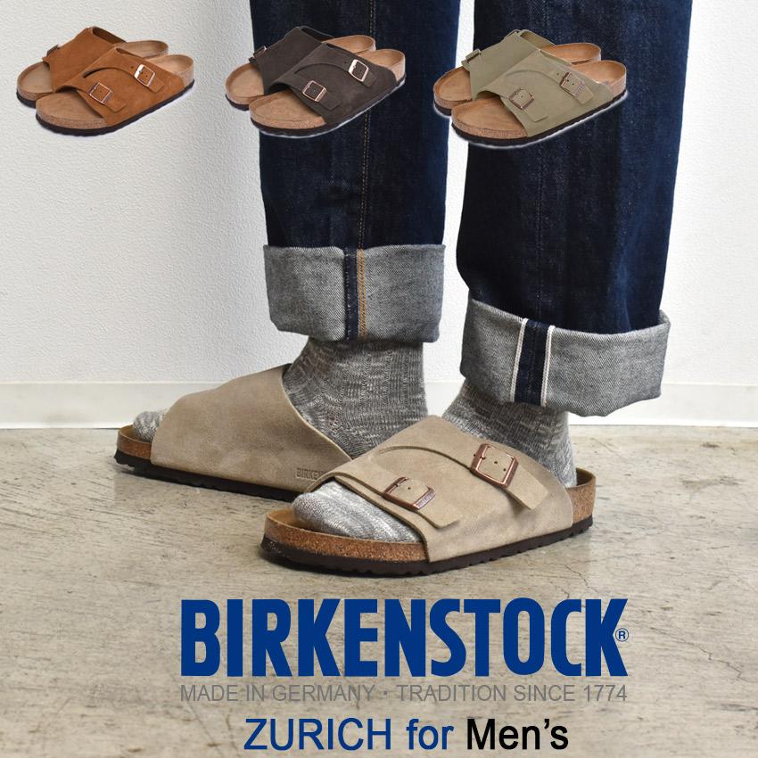 ビルケンシュトック BIRKENSTOCK Zurich sandals brown beige men regular fitting comfort sandals building Ken strap suede leather Germany health sandals ZURICH