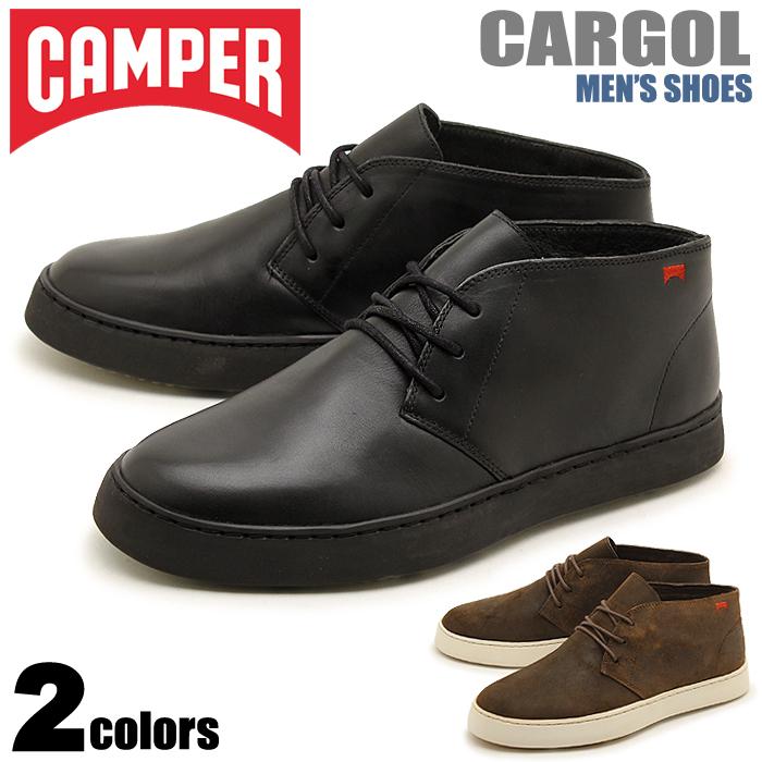 【特別奉仕品】 返品不可 送料無料 カンペール(CAMPER) カーゴール 全2色 (CAMPER 36742 001 004 CARGOL) メンズ(男性用) チャッカ ブーツ 靴 シューズ カジュアル 天然皮革 レザー ブラック ブラウン