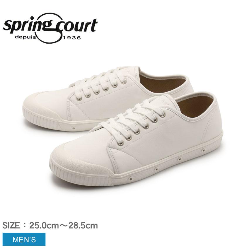 送料無料 スプリングコート SPRING COURT G2 ローカット レザー スニーカー メンズ ホワイト 白 革 本革 カジュアル シューズ 靴 G2 LOWCUT LEATHER SNEAKERS G2N-5001-2-P43 プレゼント