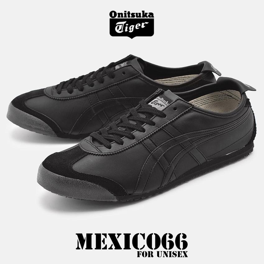 オニツカタイガー ONITSUKA TIGER メキシコ 66 スニーカー メンズ レディース ブラック 黒 靴 シューズ ローカット カジュアル レザー MEXICO 66 D4J2L 9090