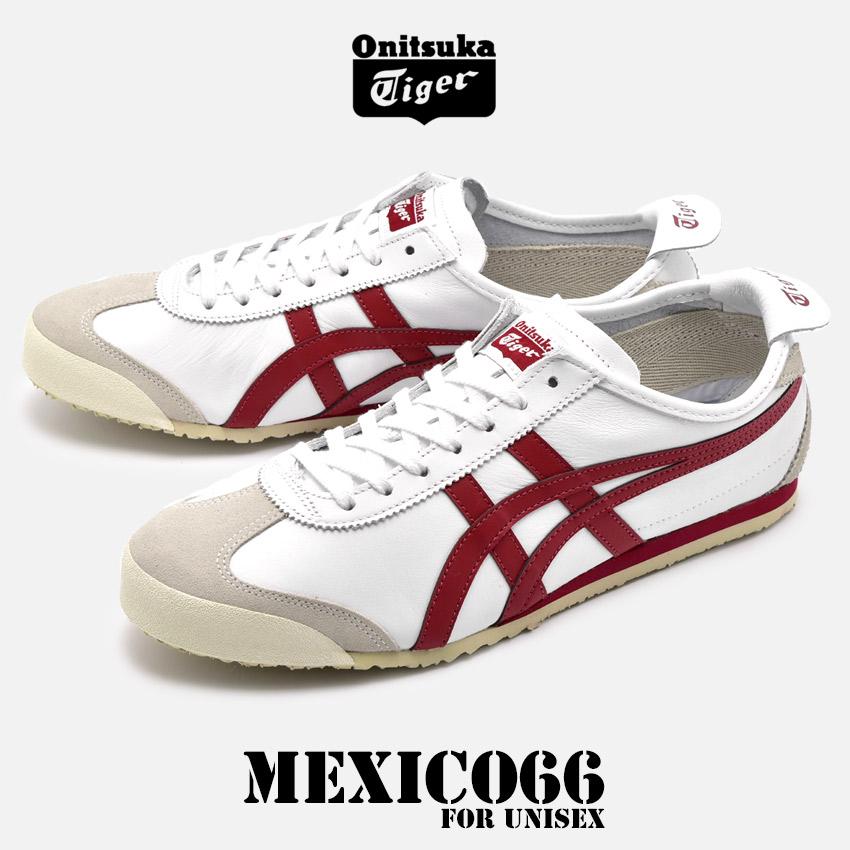【クーポン配布!スーパーSALE】 オニツカタイガー ONITSUKA TIGER メキシコ 66 スニーカー メンズ レディース ローカット シューズ 靴 ホワイト レッド 白 赤 MEXICO 66 D4J2L-0125