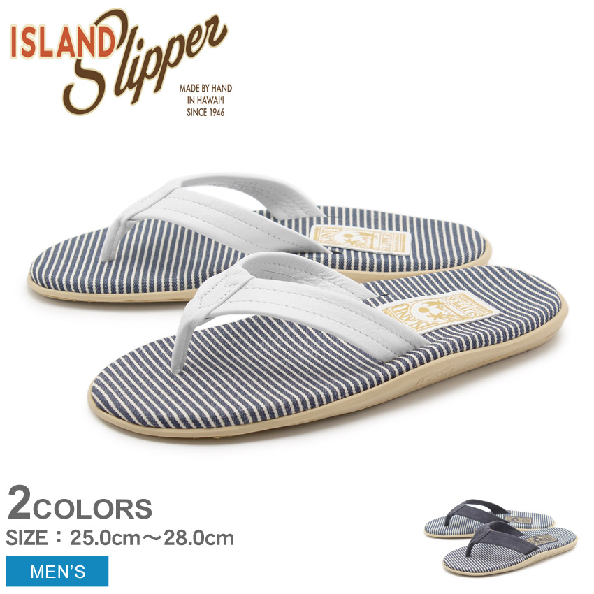 アイランドスリッパ ISLAND SLIPPER メンズ サンダル レイルロード デニム コレクション ホワイト ネイビー 白 トングサンダル ビーチサンダル デニム スエード ISLAND SLIPPER RAILROAD DENIM COLLECTION PTF202 送料無料