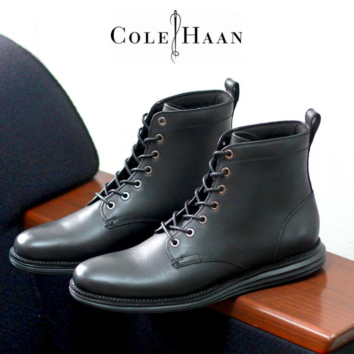 【クーポン配布!スーパーSALE】 コールハーン COLE HAAN オリジナルグランド レース ブーツ ブラック (COLE HAAN C23422 ORIGINALGRAND LACE BOOT) スムース レザー カジュアル シューズ メンズ