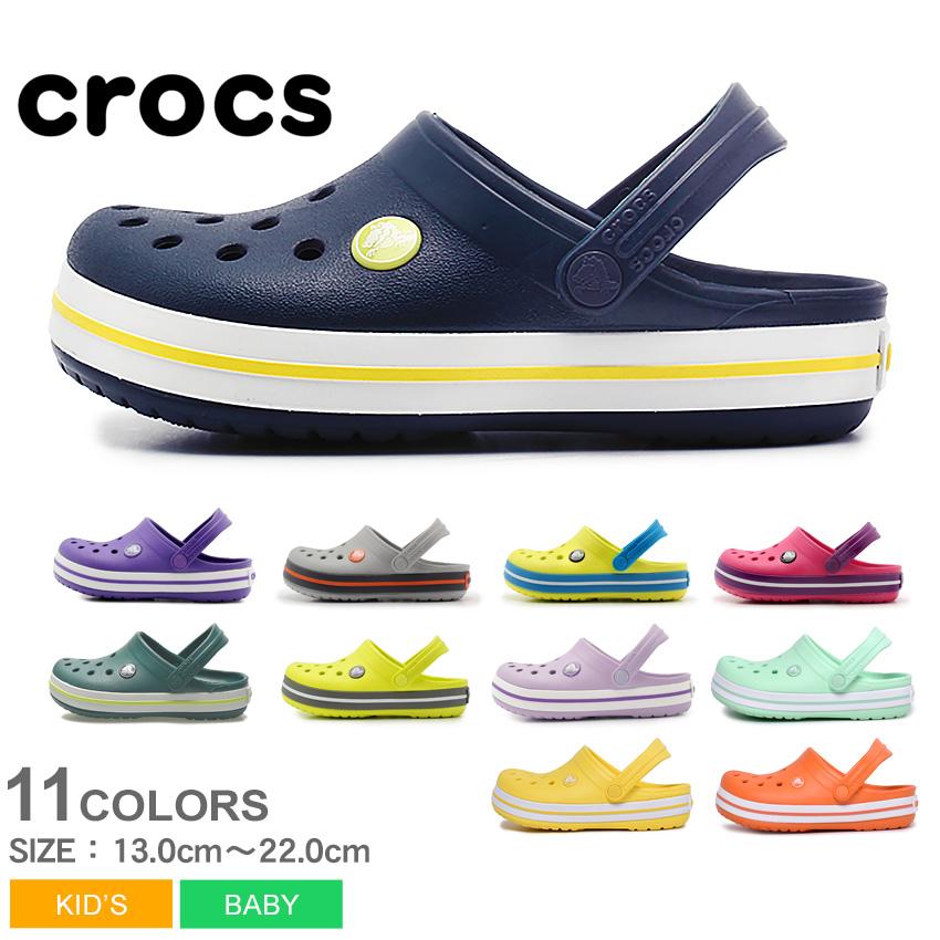 21cb59c3353b ... っくす black white beige navy gray yellow pink black and white yellow CROCS  CROCBAND CLOG KIDS 204537 of the clocks CROCS clock band sandals kids Jr.  ...