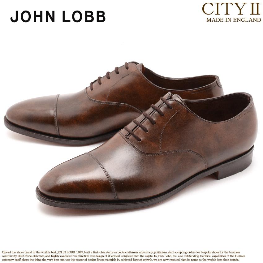 ジョンロブ JOHN LOBB シティ2 ストレートチップ キャップトウ ドレスシューズ メンズ レザー 革 シューズ 紳士 靴 ブラウン 茶 CITYII 008181L 2Y メンズ 送料無料
