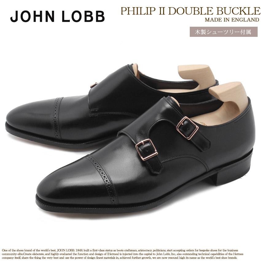 ジョンロブ JOHN LOBB フィリップ 2 ダブル バックル ドレスシューズ メンズ ブラック 黒 フォーマル カジュアル ビジネス オフィス スーツ レザー 紳士靴 短靴 革靴 PHILIP II DOUBLE BUCKLE 725200L