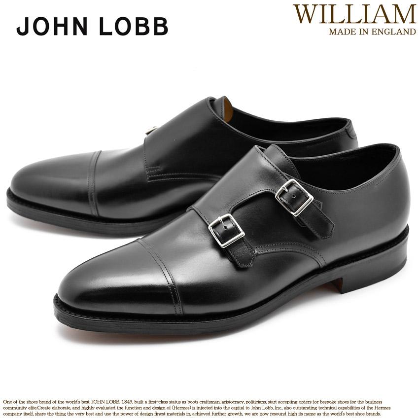 ジョンロブ JOHN LOBB ウィリアム ダブルモンク モンクストラップ ドレスシューズ メンズ レザー 革 シューズ 紳士 靴 ブラック 黒 WILLIAM 228032L 1R 送料無料