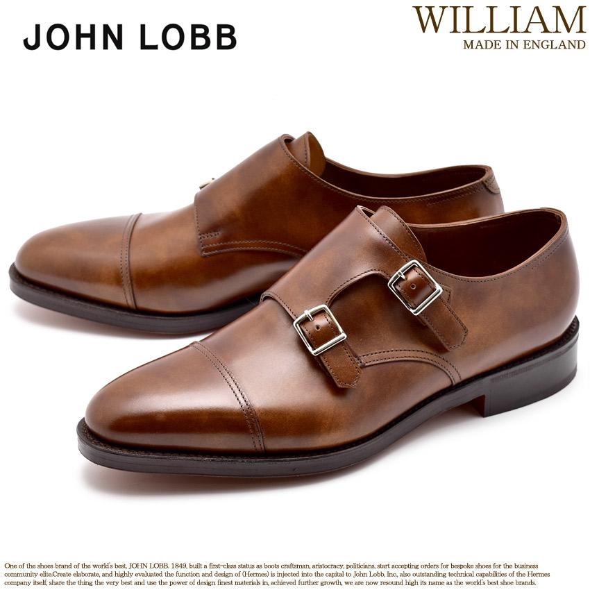 ジョンロブ JOHN LOBB ウィリアム ダブルモンク モンクストラップ ドレスシューズ メンズ レザー 革 シューズ 紳士 靴 ブラウン 茶 WILLIAM 228192L 5P 送料無料