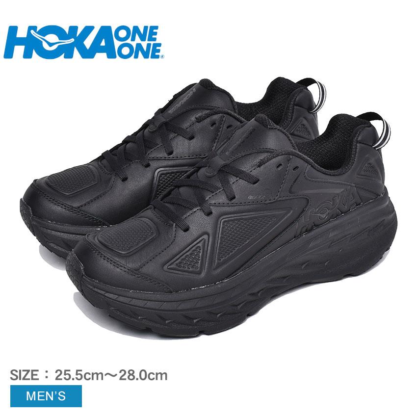 ホカオネオネ ランニングシューズ メンズ ボンダイ レザー ブラック 黒 ウォーキング ダッドスニーカー ダッドシューズ ボリュームスニーカー スポーツ トレーニング 運動 スタビリティシューズ HOKA ONE ONE BONDI LTR 1019496