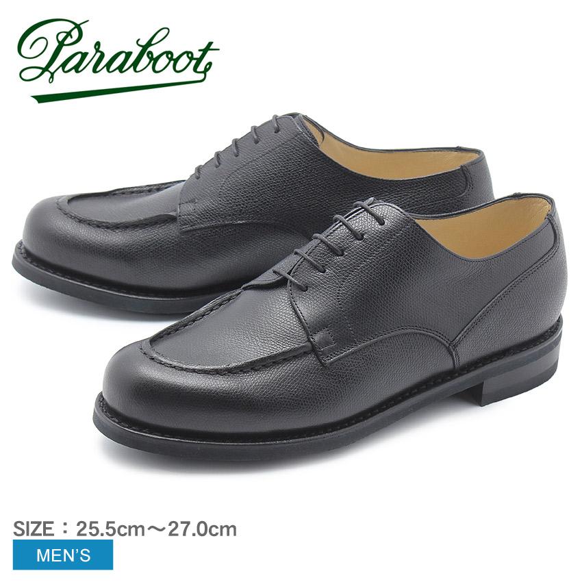 【クーポン配布!スーパーSALE】 パラブーツ PARABOOT シャンボード Uチップ レザーシューズ メンズ 黒 靴 シューズ 紳士靴 短靴 本革 グレインレザー レースアップシューズ カジュアル ビジネス ブラック 黒 CHAMBORD 1701