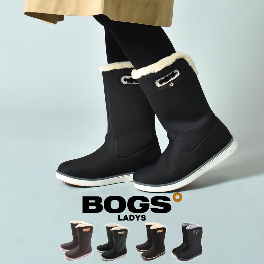 【クーポン配布!スーパーSALE】 ボグス BOGS ブーツ レディース ウォータープルーフ 女性 防水 防滑 保温 ボア レインブーツ スノーブーツ ブラック 黒 bogs MID BOOTS 78408A