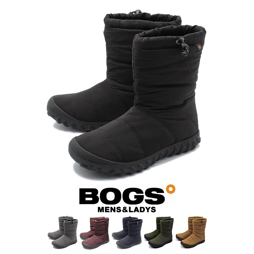 【ファイナルセール中】 ボグス BOGS B パフィー ミッド スノーブーツ メンズ レディース ウィンター 防水 雪 ブーツ アウトドア シューズ 靴 ブラック グレー レッド ネイビー 黒 赤 青 B PUFFY MID 72241