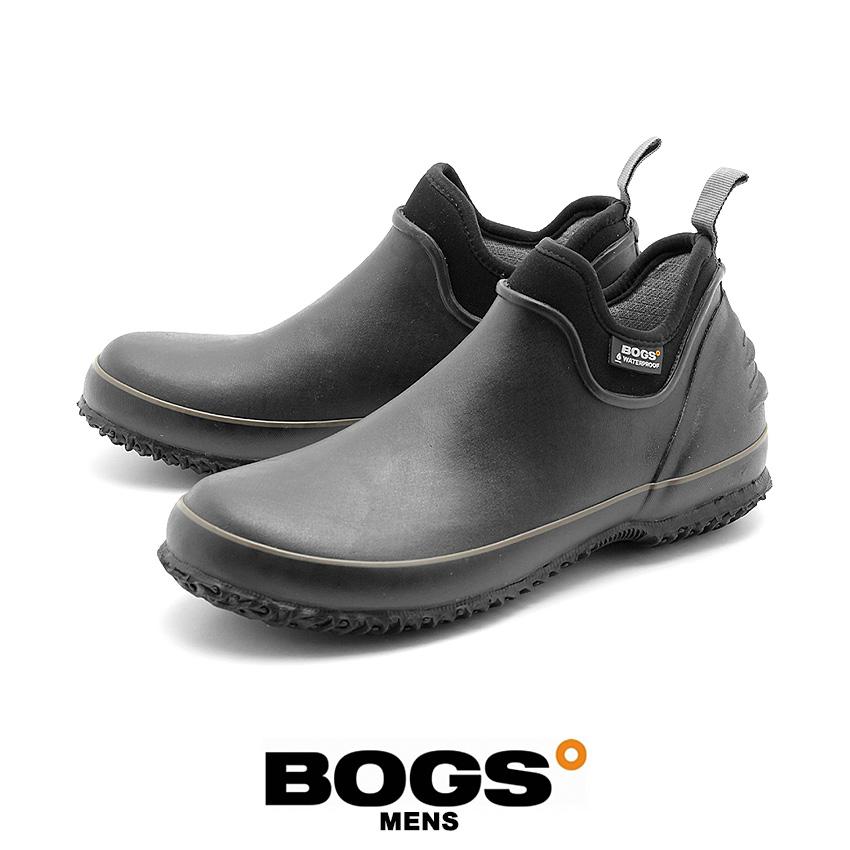 【クーポン配布!スーパーSALE】 ボグス BOGS メンズ レインシューズ アーバンファーマー ブラック (bogs URBAN FARMER 71330 001)ローカット メンズ レインブーツ 防水 防滑 保温
