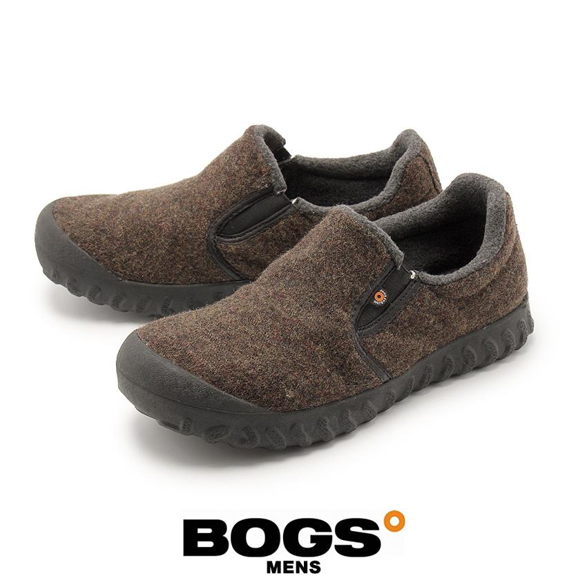 ボグス BOGS Bモック ロー ウール スノーシューズ メンズ ウィンター 雪 防水 保温 靴 ブラウン 茶 BーMOC LOW WOOL 72265 249