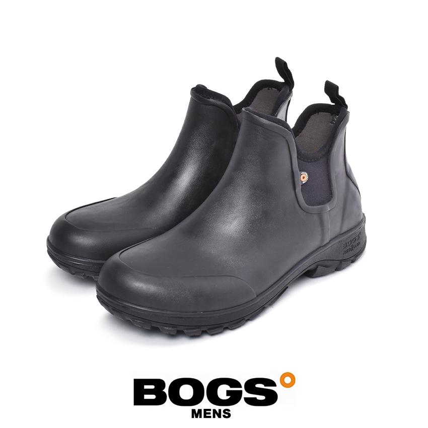 ボグス BOGS ソーヴィースリッポンブーツ レインブーツ メンズ ブラック 黒 靴 シューズ 100% 防水 防滑 サイドゴア 耐久性 快適 抗菌 防臭 防寒 ワークブーツ ウォータープルーフ アウトドア 庭いじり 高機能 スノーブーツ SAUVIE SLIP ON BOOT 72208 001