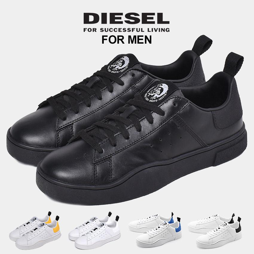 ディーゼル DIESEL S クレバー ロウ スニーカー メンズ ホワイト ブラック ブルー 白 黒 青 靴 シューズ シンプル カジュアル レザー おしゃれ 大人 S-CLEVER LOW Y01748-P1729