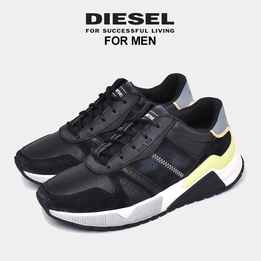 【クーポン配布!スーパーSALE】 ディーゼル DIESEL スニーカー メンズ ブラック 黒 靴 シューズ ローカット ダッドシューズ ダッドスニーカー 厚底 ブランド カジュアル レザー おしゃれ S-BRENTHA FLOW Y02111-P2897