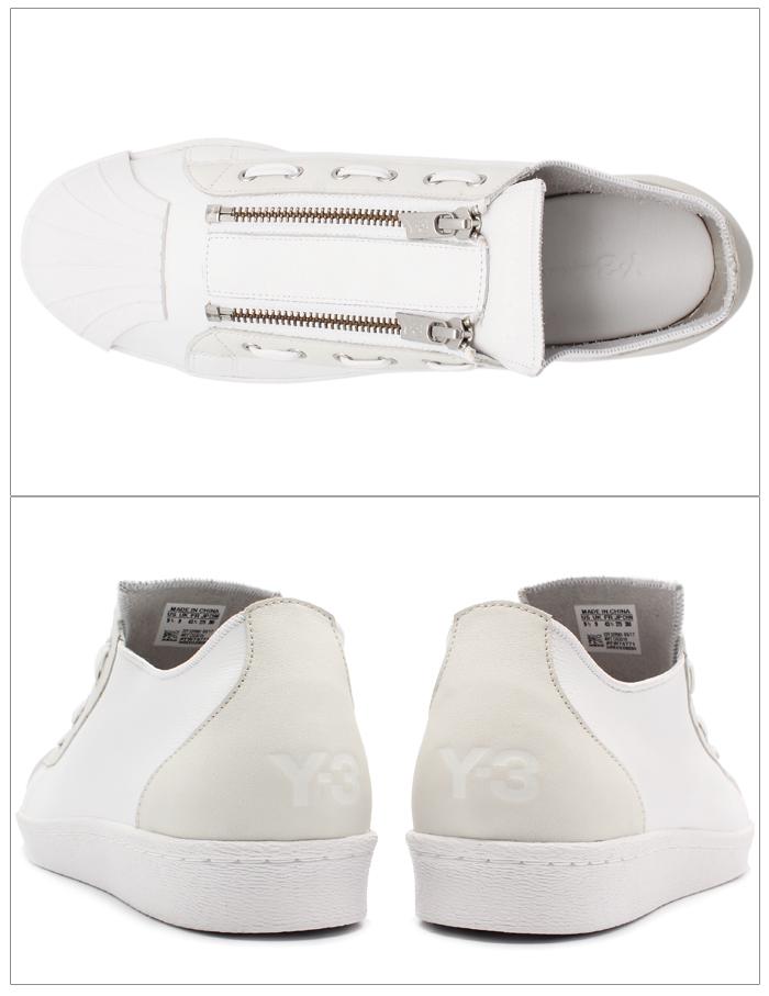 9a854da797be アディダス Y-3 ADIDAS Y-3 メンズ スニーカー Y-3 スーパー ジップ ホワイト 白 靴 カジュアル シューズ YOHJI  YAMAMOTO ヨウジヤマモト Y-3 SUPER ZIP CG3210 送料 ...