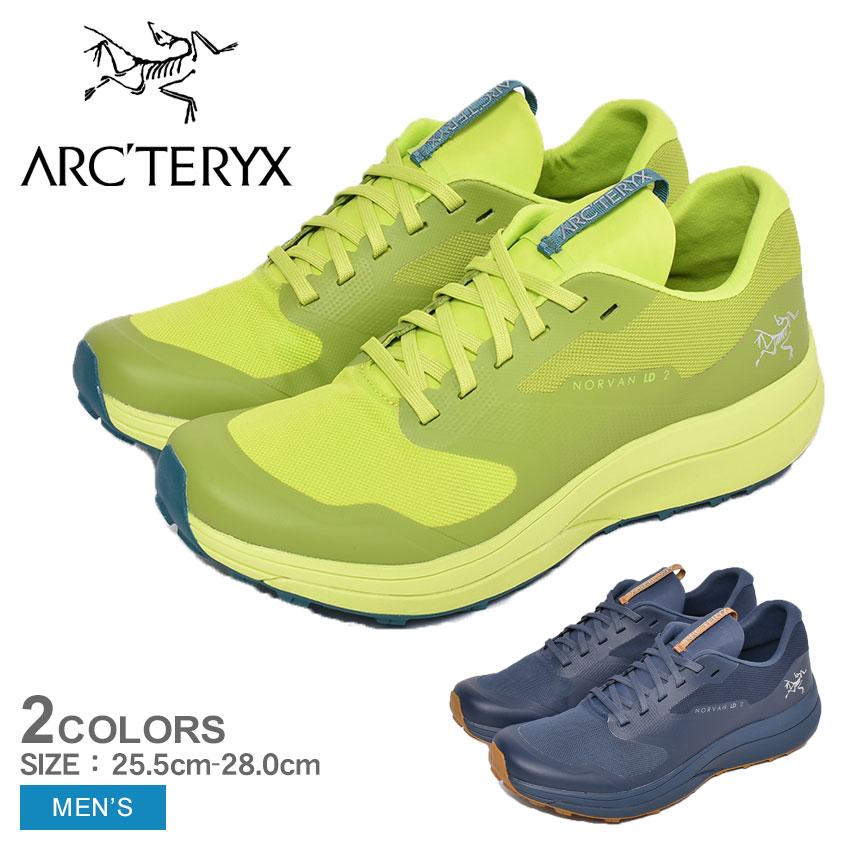【クーポン配布!スーパーSALE】 アークテリクス トレイルランニングシューズ メンズ ノーバン LD2 イエロー 黄 ネイビー 紺 メンズ 靴 シューズ スニーカー アウトドア スポーツ テクニカルトレイル 軽量 快適 ARC'TERYX NORVAN LD2 27147