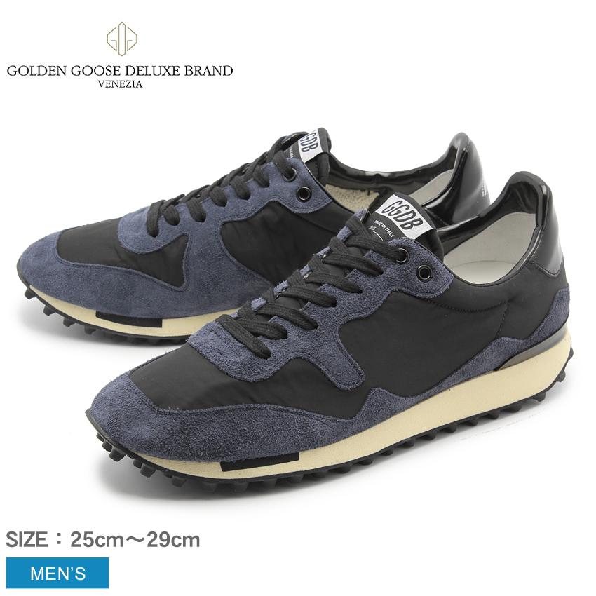 ゴールデングース GOLDEN GOOSE メンズ スニーカー スニーカーズ スターランド SNEAKERS STARLAND G30MS456.A4 ネイビー ブラック 黒 シューズ 靴 レザー イタリア ローカット ヴィンテージ 加工