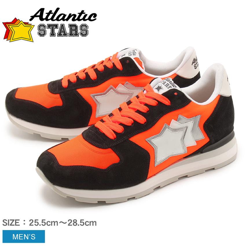 アトランティックスターズ ATLANTIC STARS アンタレス スニーカー メンズ レザー 革 ローカット シューズ 靴 オレンジ ブラック 黒 ANTARES NAF-86N 送料無料