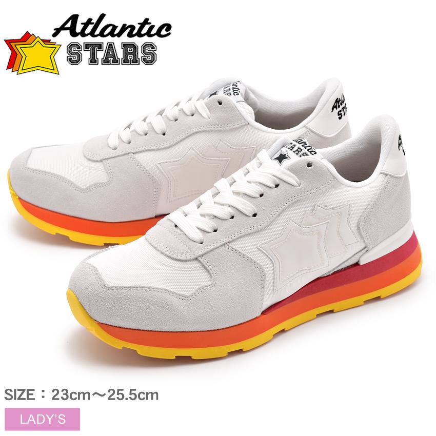 アトランティックスターズ ATLANTIC STARS スニーカー レディース レザー 革 ローカット シューズ 靴 ホワイト レッド 白 赤 ベガ VEGA TOTW-61B 送料無料