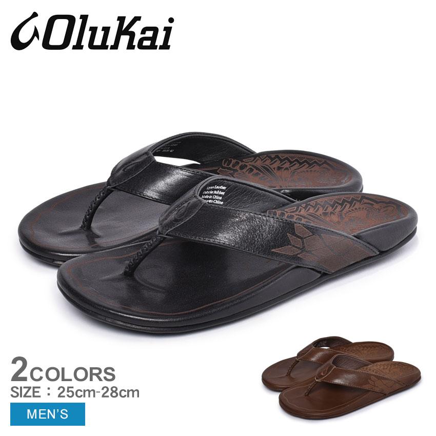 【クーポン配布!スーパーSALE】 オルカイ OLUKAI クーリア サンダル メンズ ブラック ブラウン 黒 茶 ビーチサンダル トングサンダル スリッパ ハワイ 靴 シューズ おしゃれ カジュアル シンプル KULIA 10353