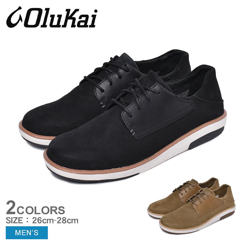 【クーポン配布!スーパーSALE】 オルカイ スニーカー メンズ KALIA LI 10442 ブラック 黒 ブラウン ハワイ シューズ 靴 ローカット 履きやすい 歩きやすい バブーシュ かかと 踏める 通勤 通学 学生 おしゃれ レザー OLUKAI