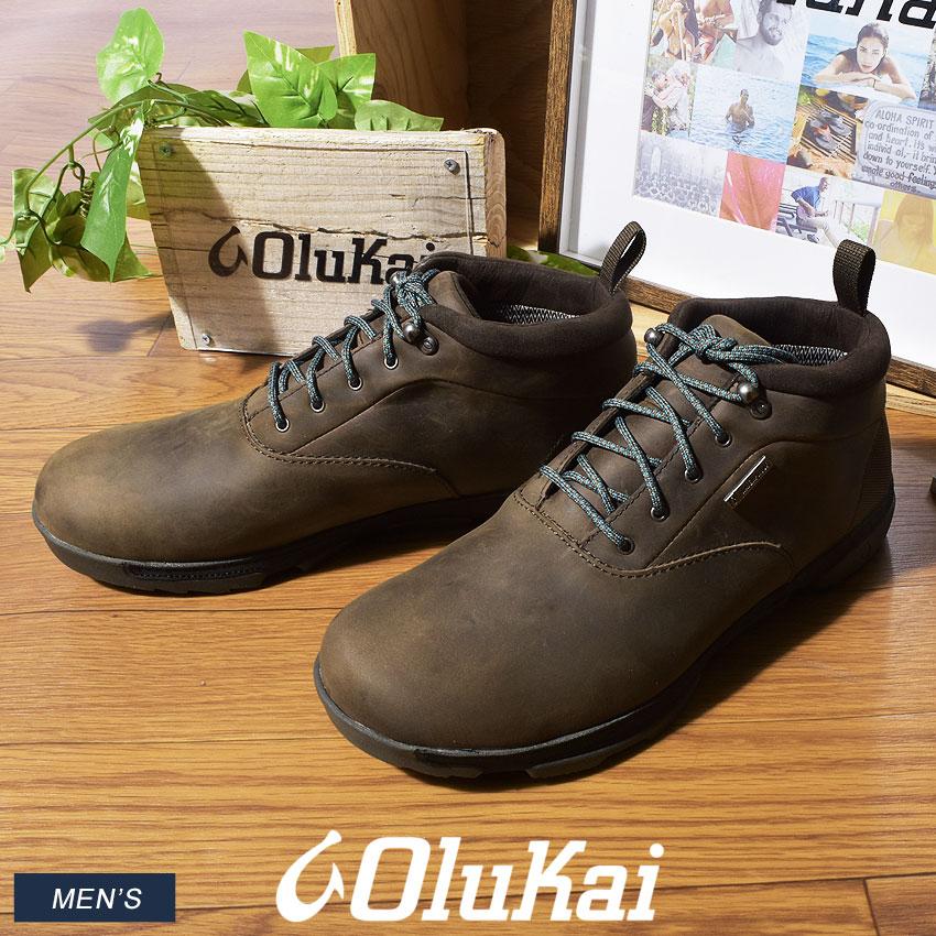 オルカイ OLUKAI クアロノ WP トレッキングシューズ メンズ アウトドア ハイキング 登山 シューズ 靴 ブラウン 茶 KUALONO WP 10334 5H40