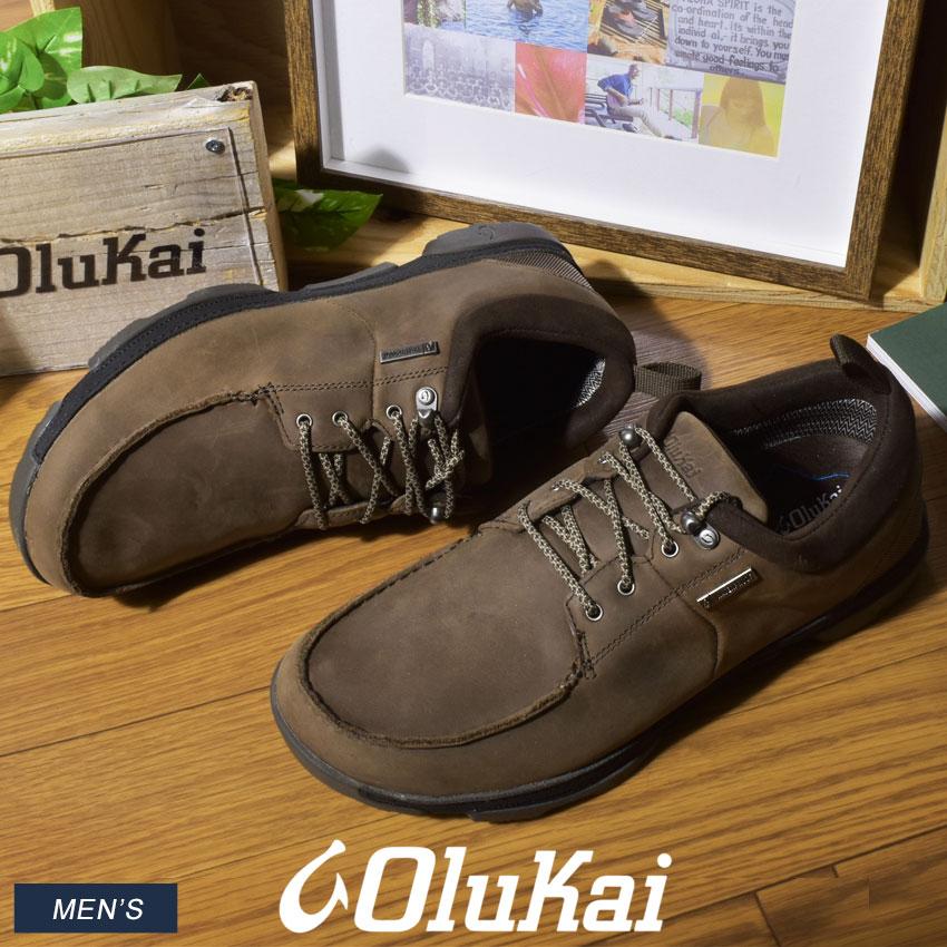 オルカイ OLUKAI マコア WP トレッキングシューズ メンズ アウトドア ハイキング 登山 シューズ 靴 ブラウン 茶 MAKOA WP 10335 5H40 送料無料