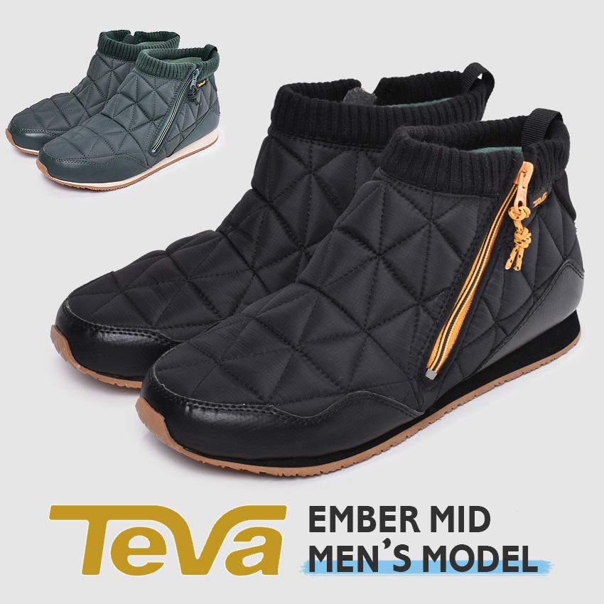 【クーポン配布!スーパーSALE】 テバ TEVA エンバーミッド ブーツ メンズ ブラック カーキ 黒 靴 シューズ スニーカー カジュアルシューズ ミッドカット カジュアル アウトドア キャンパー レジャー タウンユース キャンプ 2WAY グリップ性 EMBER MID 1103234