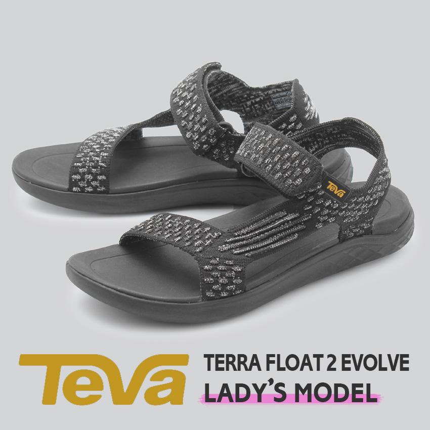 【年末年始セール中】 テバ TEVA レディース サンダル テラフロート 2 ニット エボルブ テヴァ アウトドア ベルト ストラップサンダル スポーツサンダル ビーチサンダル 軽量 スポサン ブラック 黒 TERRA FLOAT 2 EVOLVE 1099429 BLK 送料無料