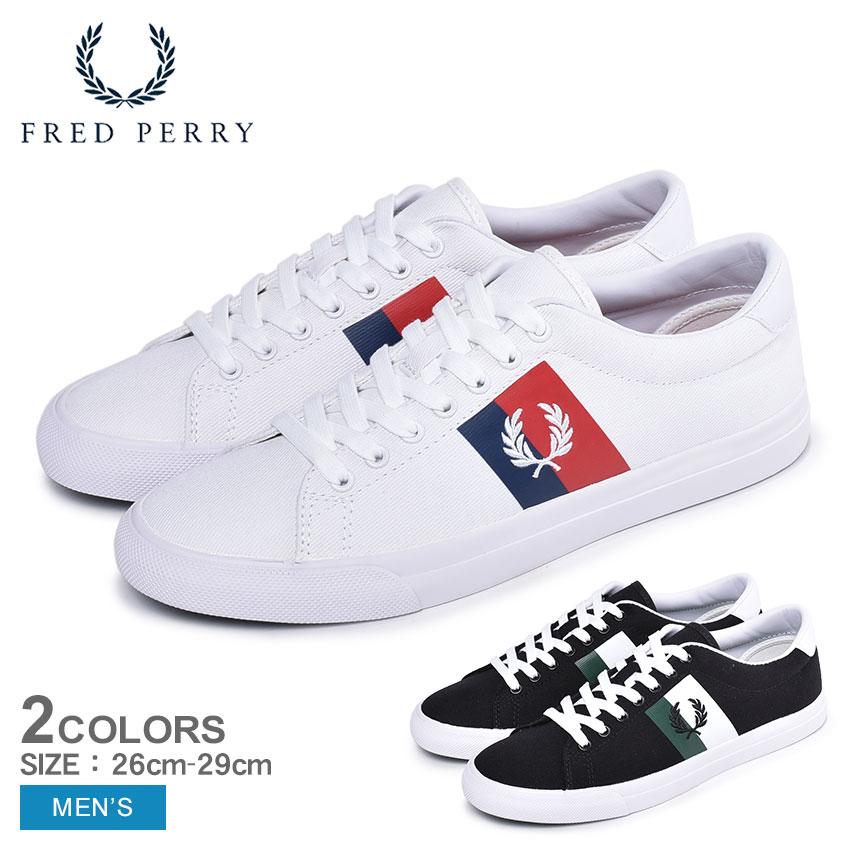 【年末年始セール中】 フレッドペリー FREDPERRY アンダースピン プラスチゾル ツイル スニーカー メンズ ホワイト ブラック 白 黒 靴 シューズ カジュアル キャンバス レースアップ テニスシューズ コートシューズ UNDERSPIN PLASTISOL TWILL B4142 送料無料