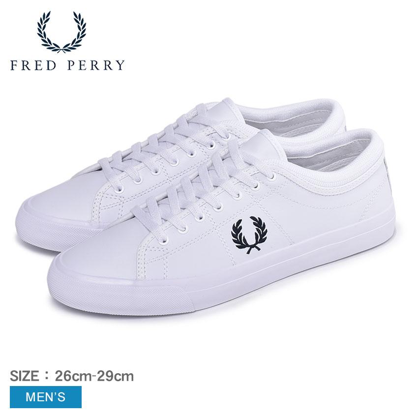 フレッドペリー FREDPERRY ケンドリック チップド カフレザー スニーカー メンズ ホワイト 白 カジュアル シューズ レースアップ テニスシューズ コートシューズ ロゴ 本革 皮革 靴 定番 白 KENDRICK TIPPED CUFF LEATHER B4266
