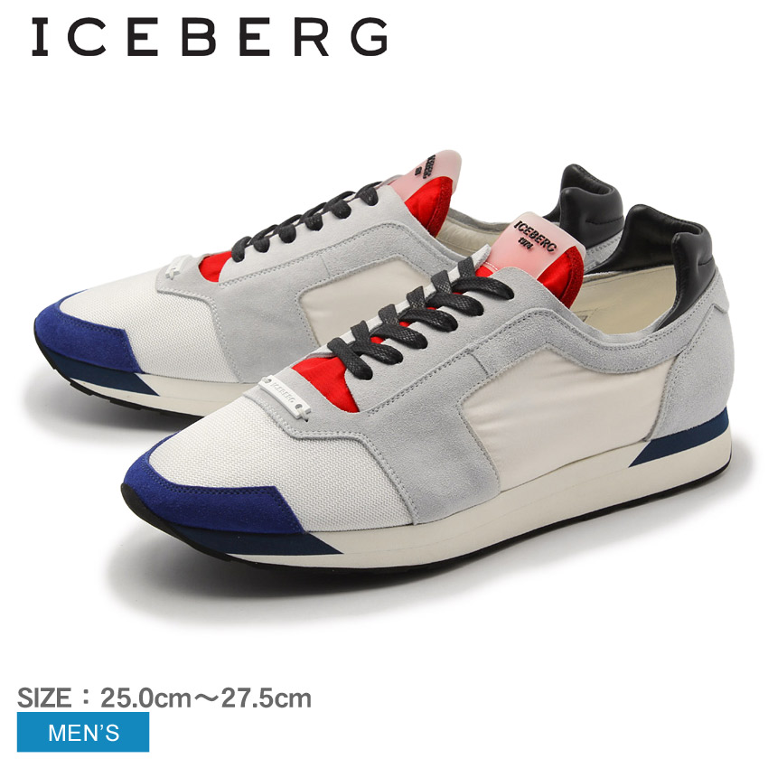 【クーポン配布!スーパーSALE】 アイスバーグ ICEBERG スニーカー 16EIU417B メンズ シューズ ローカット 天然皮革 本革 カジュアル スニーカー