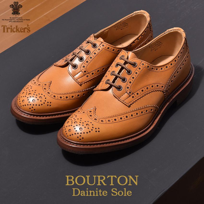 トリッカーズ TRICKER'S メンズ ウィングチップ バートン エイコーンアンティーク ダイナイトソール TRICKERS ブラウン 男性 ウイング カジュアル カントリー シューズ 革靴 短靴 靴 (TRICKER'S 5633 38 COUNTRY BOURTON) メダリオン 送料無料